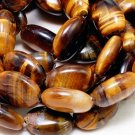 Tiger Eye Gemstone Oval Beads (lot of 10) - Jewelry Dreams item GSF1