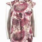 Tie-Dyed Jacquard Mesh Top (Plus Size)-6307PR-JA004-b2b
