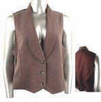 Stretch Knit Vest (Plus Size)-7470BR-JA204 -b2b