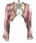 Shimmery Silk Cardigan (Plus Size)-98722A-ES101-b2b