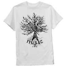 Music Life Graphic Tee Shirt