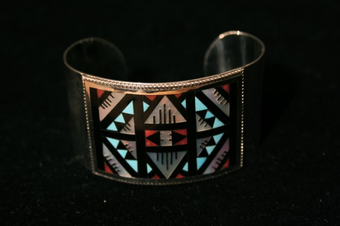 Center Diamond Shaped Handmade Indian Bracelet-1