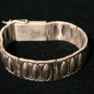 Large Sterling Links Handmade Indian Bracelet-3