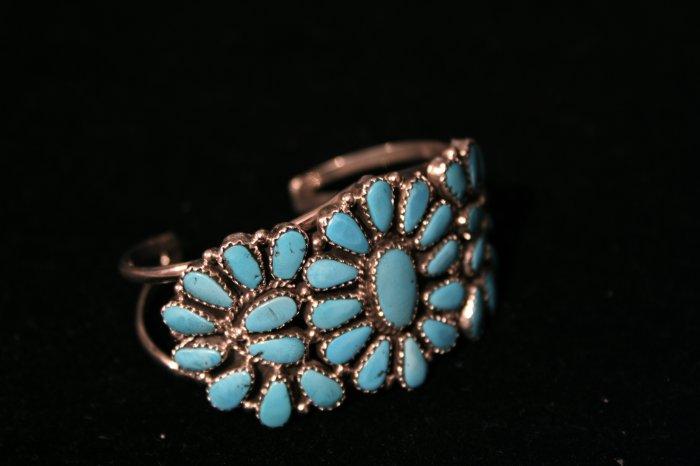 Center Flower Handmade Indian Bracelet-4