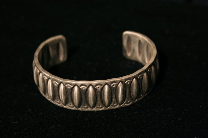 Sterling Silver Cuff Handmade Indian Bracelet-9