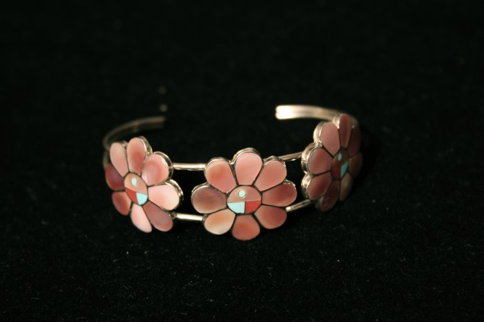 Tri-Flower Handmade Indian Bracelet-30
