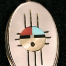 New Mexico Flag Handmade Indian Pendant-21