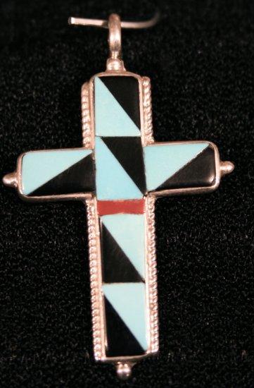 Cross Style Handmade Indian Pendant-22