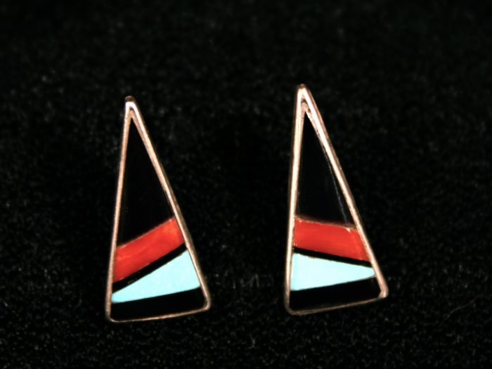 Triangle Handmade Indian Earrings-1