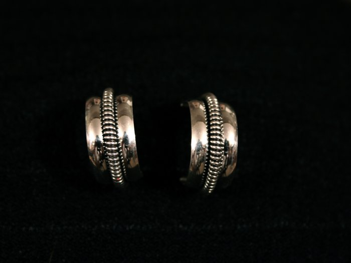 Half Hoop Handmade Indian Earrings-11