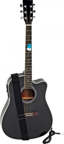 "Maxam 41"" Black Acoustic Guitar"