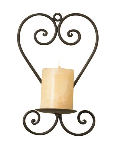 Wrought Iron Heart Wall Sconce