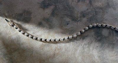Jacqueline Farre Genuine Diamond Tennis Bracelet