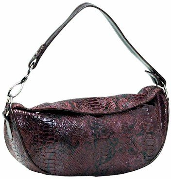 Embassy Brown Faux Snake Skin Purse