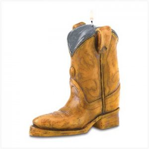 Cowboy Boot Candle
