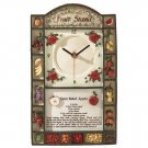 Charming Fruit Stand Wall Clock