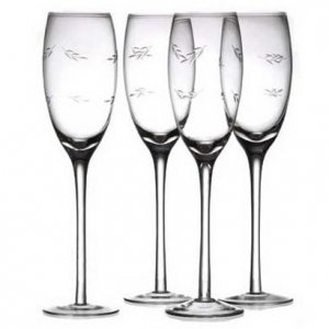 Etched Flutes (Set of 4)