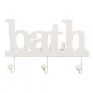 Bath Clothes Hook Wall Plaque