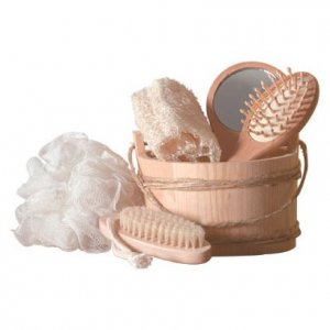 Wood Bucket Bath (6 pc. Set)