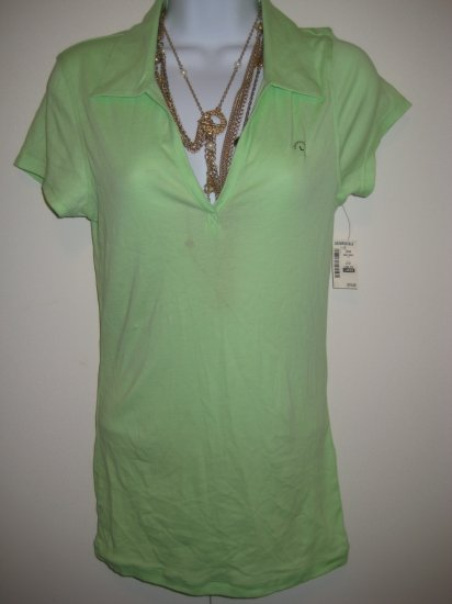 NWT Aeropostale Polo Lime Green Sz Large