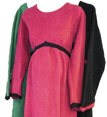Organic Cotton Velvet Fleece Maternity Dress