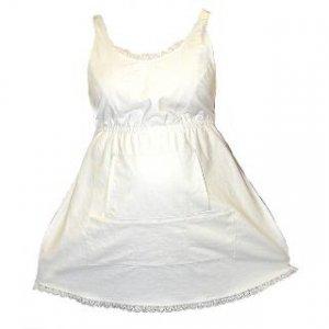 Organic Retro White Maternity Apron