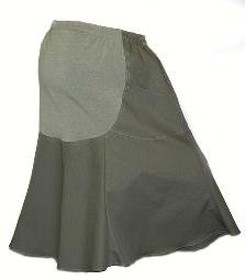 Organic Green Rip Stop Maternity Skirt