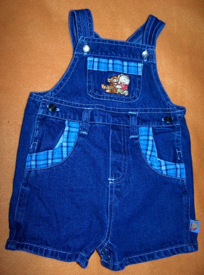 Winnie the Pooh Disney Baby Jean Overall Shorts 6-9 Months