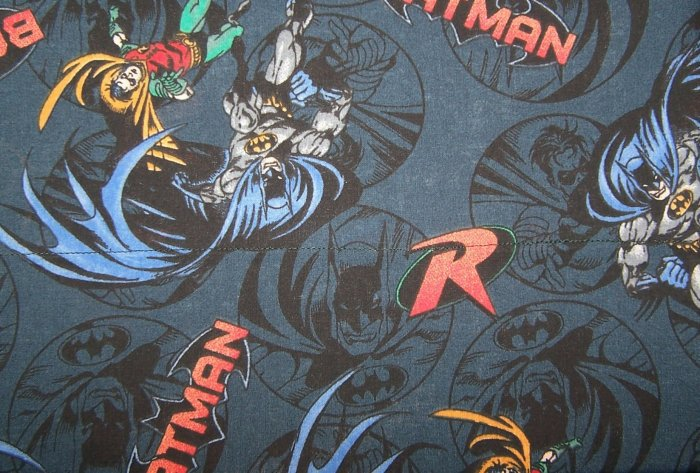 2 Yards of Batman and Robin Fabric