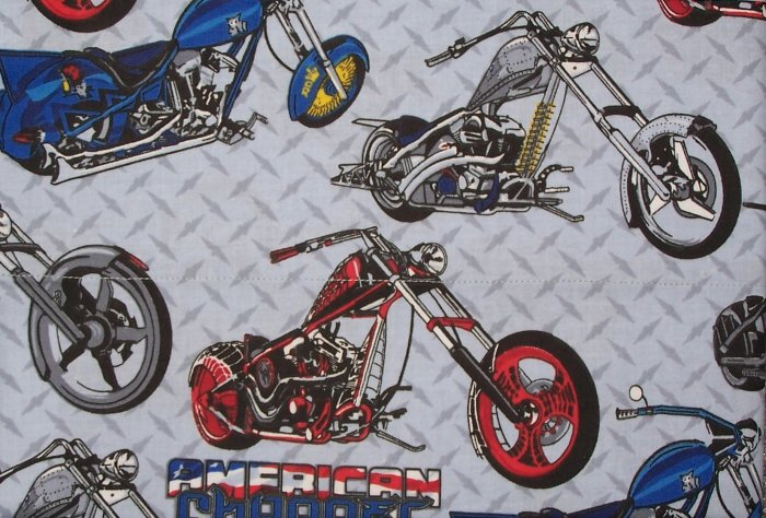 2 Yards of American Chopper Motorcycle Fabric  New