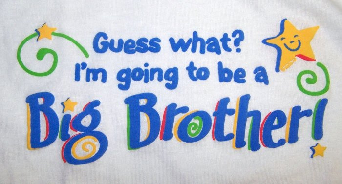 I'm going to be a Big Brother T-Shirt NEW Small S 6-8