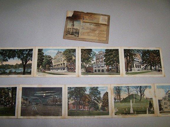 1918 Marietta Ohio Souvenir Cards Muskinggum River