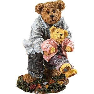 Boyds Bear Bearstone Daddy and Ali ... Playful Pastimes 228511