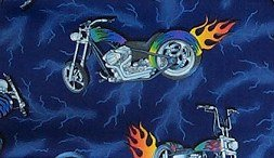 Motorcycle with Lightning and Flames Standard Pillow Case