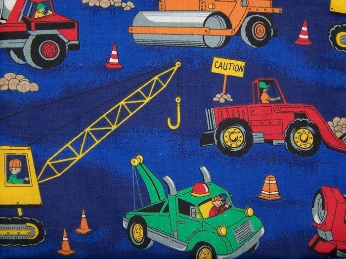 Construction Vehicals - Tow Trucks, Crane, DumpTruck  Toddler Pillow Case