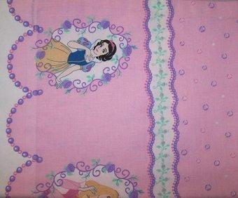 Girls Disney Pink Princess Toddler Size Pillow Case