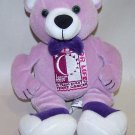 Relay for Life Purple Bear with Big Feet - American Cancer Society