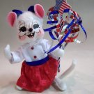 "Anna Lee 4th of July Independance Girl Mouse 6"" annalee"