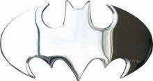 Silver Chrome Cutout Batman logo buckle
