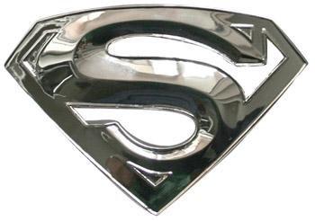 Chrome Superman buckle 3D