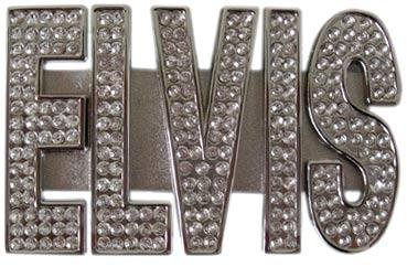Elivs buckle with rhinestones