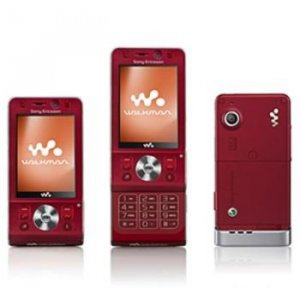 Sony Ericsson W910i Red Quad Band GSM Phone (unlocked) plus 2 GB Micro SD Memory Card