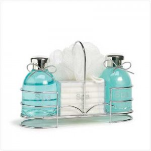 #36395 Spa Bottles Set-wire Caddy