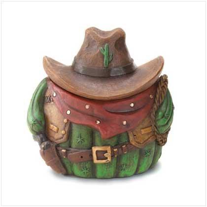 #36515 Cowboy Cactus Trinket Box