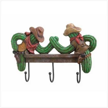 #36516 Cowboy Cactus Hooks Plaque