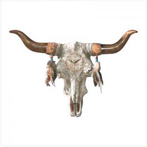#35151 Bull's Skull Wall Clock