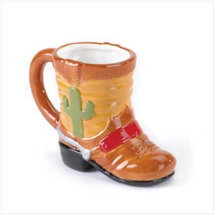 #37381 Cactus Print Dolomite Boot Mug