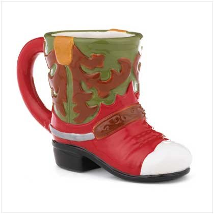 #37384 Western Print Boot Mug