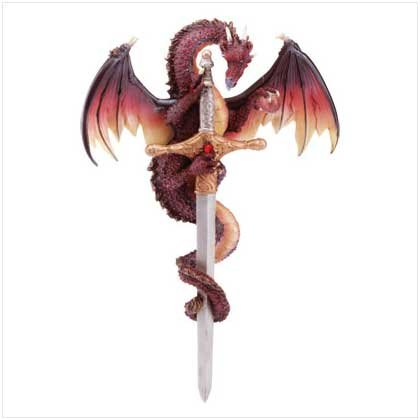 #32201 Sword And Dragon Wall Plaque