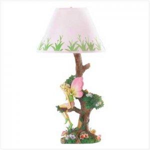 #36718 Fairy Sitting On Tree Lamp